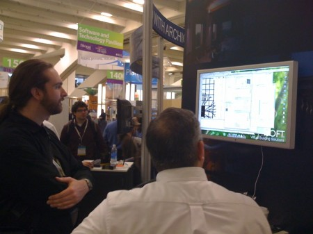 04 - An architect checks out the features of ArchiCAD 12, shown here running on a Mac Pro.