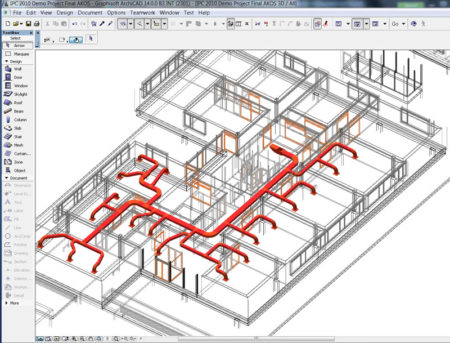 09 - Revit MEP models can be directly imported into ArchiCAD 14 MEP Modeler with Graphisoft's direct-connection plug-ins they developed.