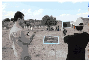 01 - Users experiencing ancient city using virtual 3D tour app iVisit Anatolia. 3d work and assets were created using ArchiCAD, Artlantis and iVisit 3D. (courtesy Graphisoft)