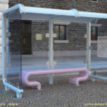 02 - solidThinking Evolve was used to create this prototypical mass transit shelter.