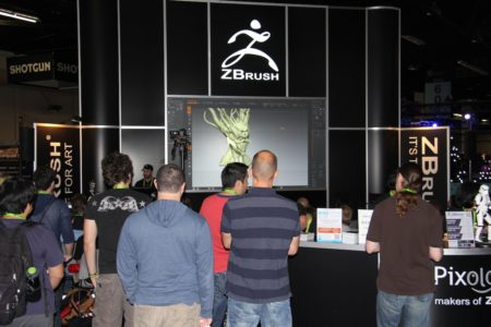 03 - ZBrush at Pixologic's booth at SIGGRAPH 2013. (courtesy Akiko Ashley, All Rights Reserved)