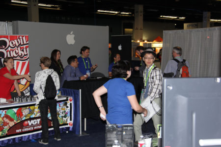 01 - Apple at the SIGGRAPH Job Fair. Companies like Pixar, Disney, Apple, ILM, and many leading ISVs in 3D show up each year to attract talented prospects.