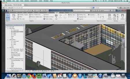 02 - Revit running as an Amazon G2 instance through the Firefox browser on a Mac.