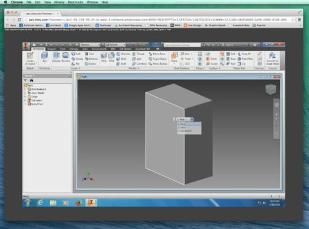 06 - Autodesk Inventor 2014 on OTOY Cloud Server via Chrome browser on a Mac.