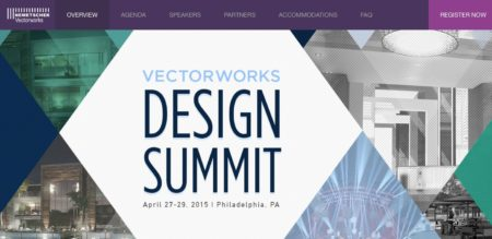 01 - Vectorworks Design Summit takes place in Philadelphia from 27-29 April 2015.