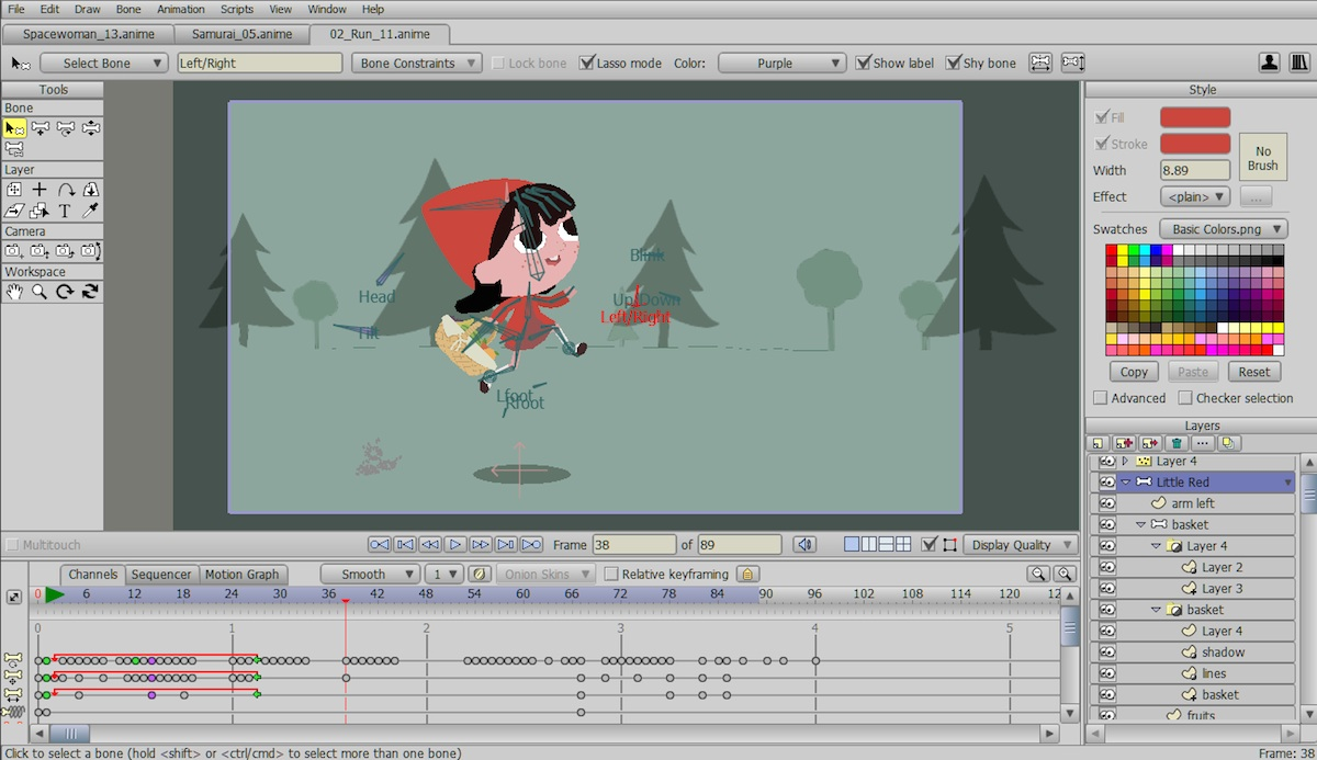 02 a screenshot of the pro version of anime studio pro 11 showing windows