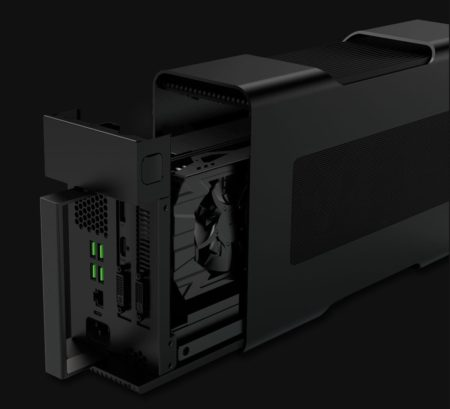 01 - Why wouldn't many Mac users not want one of these? The ability to pack the world's most powerful GPUs into a Razer Core means any Thunderbolt 3 computer connected to it can have 90% or more of its its power. Just one catch: They don't work on Macs (not yet...)