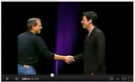 Richard Kerris with Steve Jobs at Apple Keynote. (Image: courtesy of Richard Kerris.)